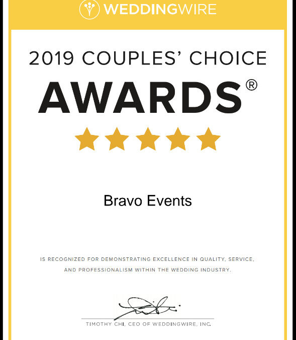 2019 WeddingWire Couples' Choice Awards